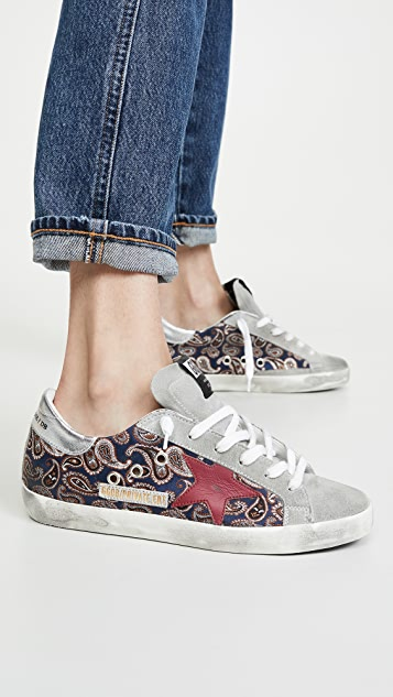 Golden Goose Superstar Paisley Sneakers