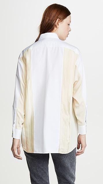 Golden Goose Mixed Media Button Down Shirt