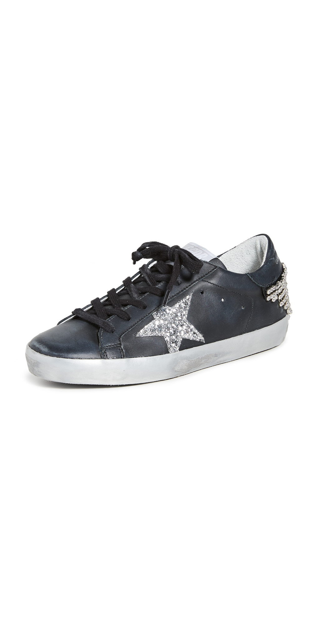 Golden Goose Superstar Sneakers with Chain