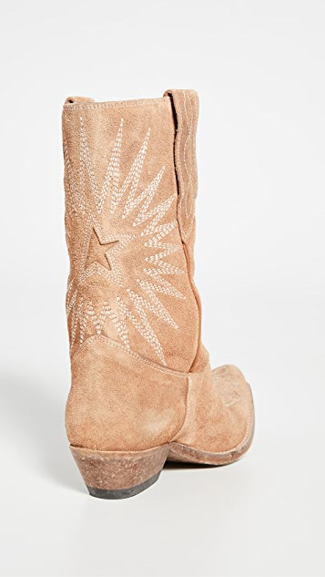 Golden Goose Wish Star Low Washed Boots