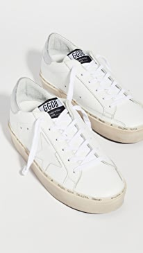 골든구스 Golden Goose Hi Star Sneakers,White/Silver