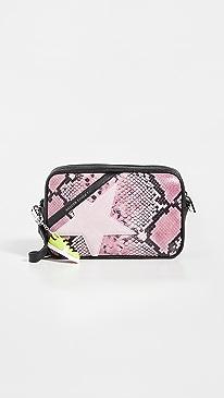 골든구스 스타백 Golden Goose Python Star Bag,Pink/Black