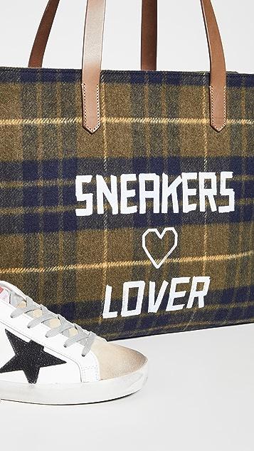 Golden Goose Sneakers Lover Wool Tote