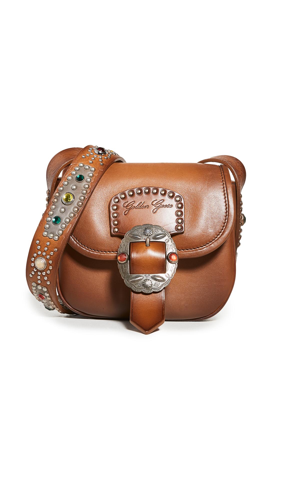 Golden Goose Rodeo Texas Smooth Calfskin Shoulder Bag