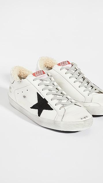 Golden Goose Super Star Shearling Sneakers