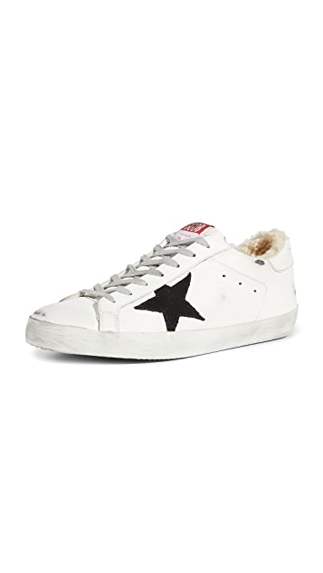 Golden Goose Super Star Shearling Sneakers