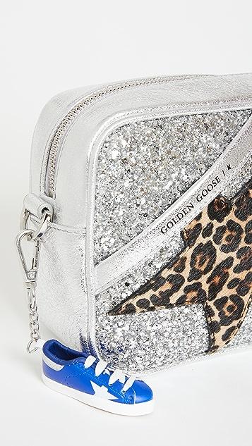 Golden Goose Star Bag Glitter Front Panel