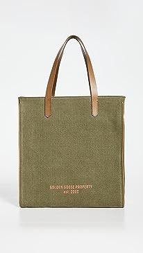 골든구스 캘리포니아백 California Golden Goose Property Bag,Lichen Green/Brown/Orange