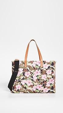 골든구스 캘리포니아백 Golden Goose California Hibiscus Camouflage Bag,Green Camouflage/Pink Flowers