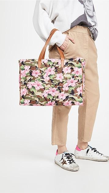 Golden Goose California Hibiscus Camouflage Bag