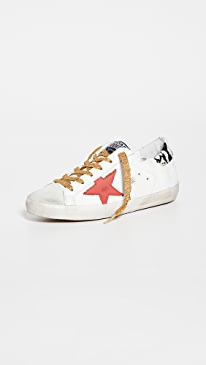 골든구스 Golden Goose Superstar Sneakers,Ice/White/Red/Rock Snake