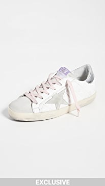 골든구스 Golden Goose Superstar Quilted Sneakers,Optic White/Ice/Silver