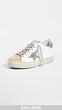 골든구스 Golden Goose Hi Star Sneakers,White/Cappuccino/Silver/Grey