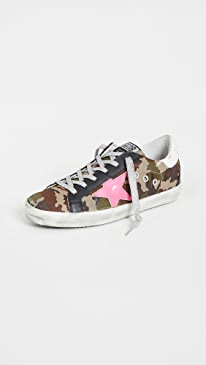 골든구스 Golden Goose Superstar Sneakers,Green Camo/Fuchsia