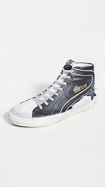 Golden Goose Slide Leather Sneakers