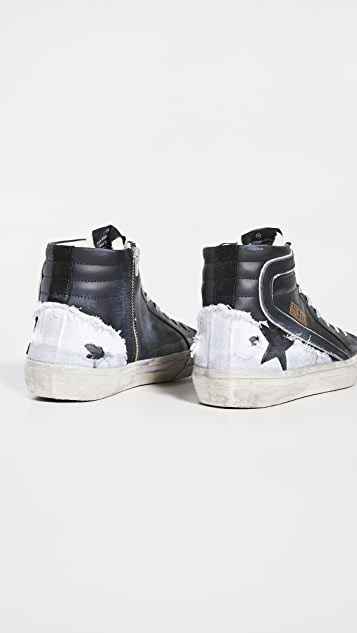 Golden Goose Slide Leather Sneakers