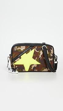 골든구스 스타백 Golden Goose Star Bag,Camouflage/Fluo Yellow/Black