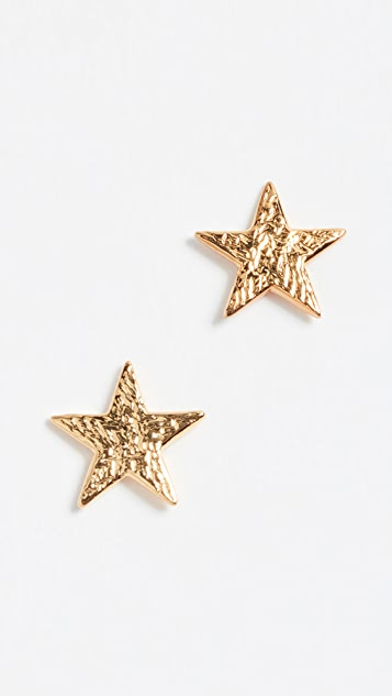 gold plated stud sterling products lr chain e yellow ss star yg silver earrings