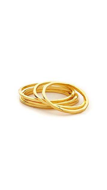 Gorjana Mixed Size Simple Ring Set