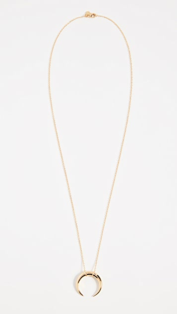 Gorjana Cayne Crescent Pendant Necklace