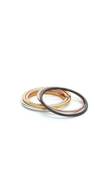 Gorjana Confetti Ring & Midi Set