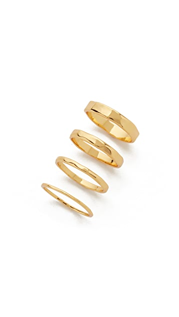 Gorjana G Ring Stacking Set