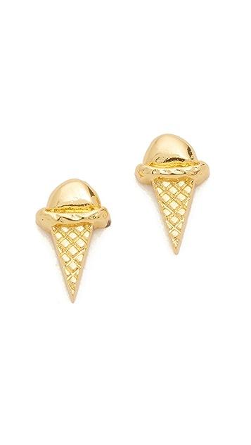 Gorjana Ice Cream Cone Stud Earrings