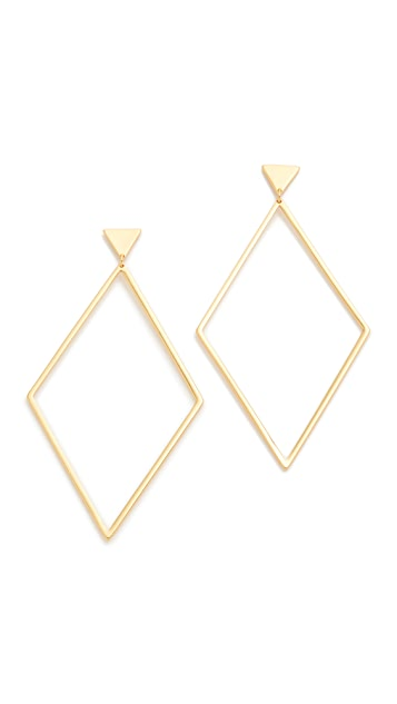 Gorjana Liv Drop Hoop Earrings