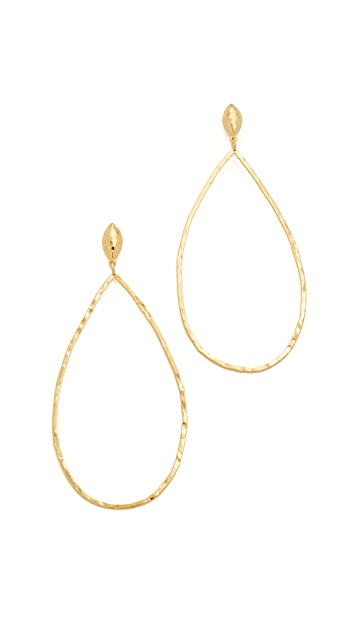 Gorjana Lola Drop Hoop Earrings