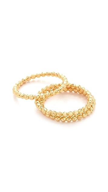 Gorjana Marlow Ring Set in Metallic Gold CiLc6