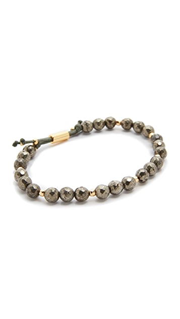 Gorjana Power Pyrite Bracelet for Strength