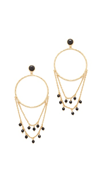 Gorjana Sol Drape Hoop Earrings