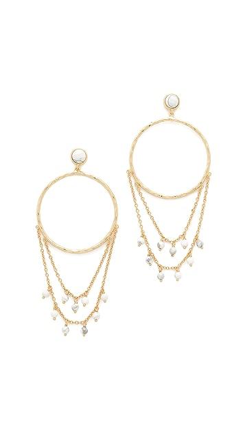 Gorjana Sol Drape Hoop Earrings in Metallic Gold Wn6YdED