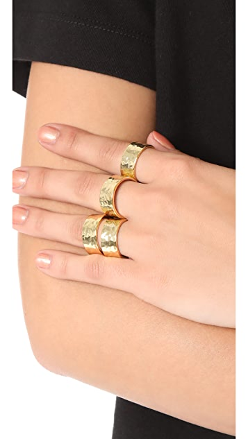 Gorjana Evie Statement Ring Set