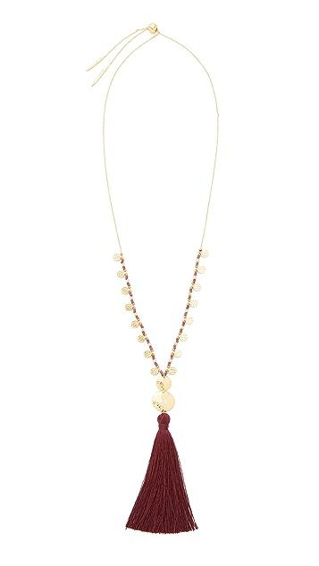 Gorjana Leucadia Beaded Tassel Necklace