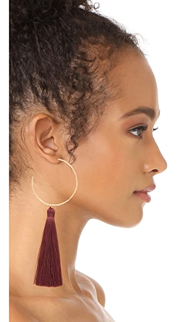 Gorjana Leucadia Tassel Hoop Earrings