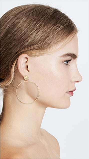 Gorjana Chloe Drop Hoop Earrings
