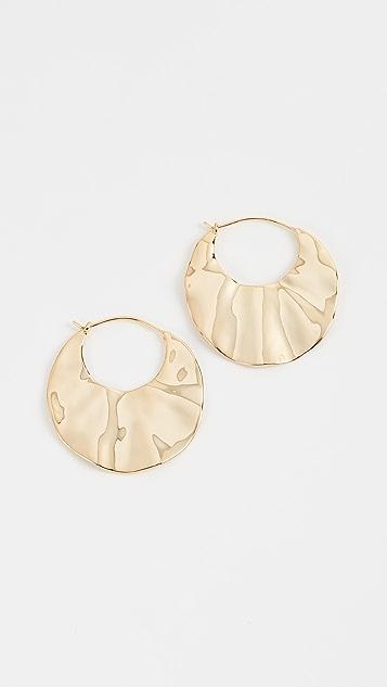 Gorjana Chloe Crescent Hoop Earrings - Gold