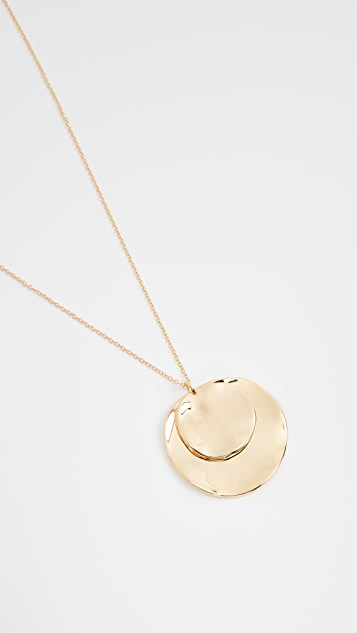 Gorjana Chloe Double Pendant Adjustable Necklace