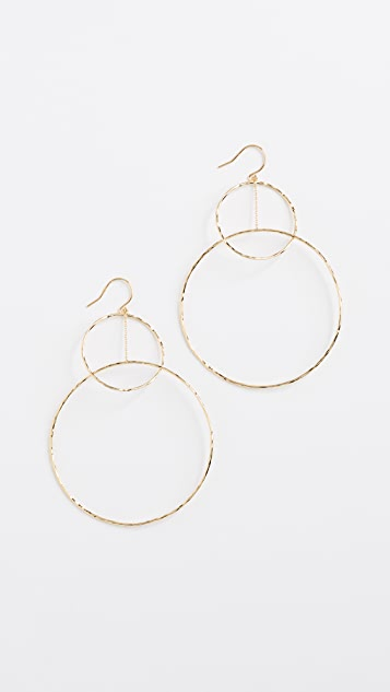 Gorjana Interlocking Large Circle Drop Earrings
