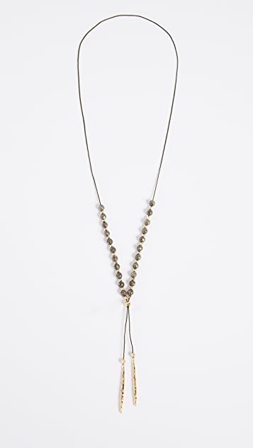 Gorjana Power Pyrite Necklace for Intuition