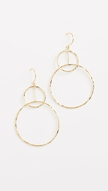 Gorjana Interlocking Circle Drop Earrings