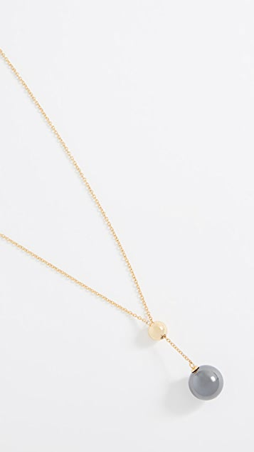 Gorjana Newport Gemstone Adjustable Lariat Necklace
