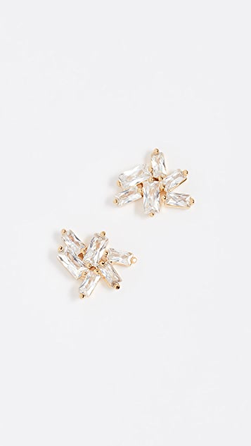 Amara Amara Gold Studs With White Pearl