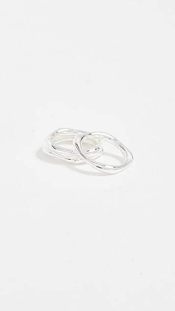 Gorjana Quinn Ring Set - Silver