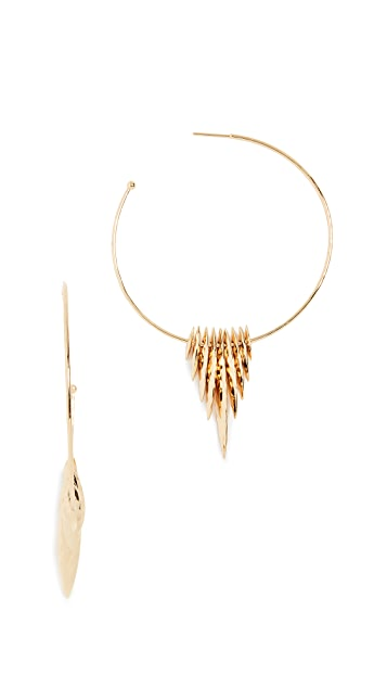 Gorjana Nora Fan Hoop Earrings