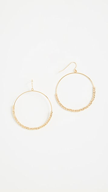 Gorjana Laguna Drop Hoop Earrings