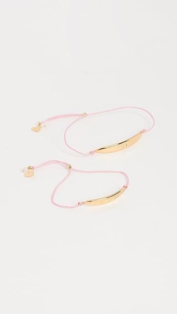 Gorjana Mini + Me I <3 You  Bracelet Set