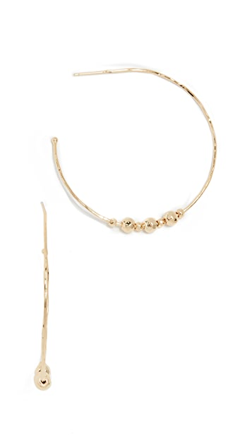 Gorjana Taner Beaded Hoop Earrings