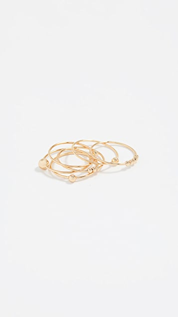 Gorjana Newport Mixed Stacking Ring Set